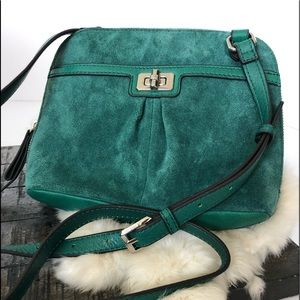 B. MAKOWSKY Emerald Suede Purse
